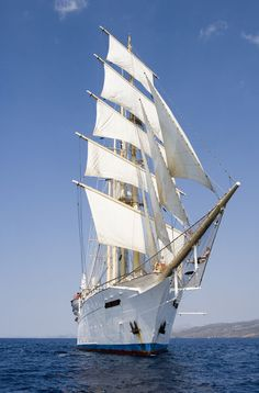 Star Clippers' Star Flyer sailing ship near Hydra. I love ships with sails...