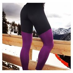 Grey and purple yoga leggings Gym Style, Yoga Leggings, Fitness Fashion, Squats, Active Wear, Photo And Video, Lifestyle, Purple, Grey