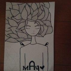 #draw #girl #mayraferrari