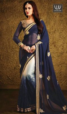 Buy Now @http://goo.gl/YTGBZf  Fantastic Georgette Blue Party Wear Designer Saree  Bring out the true diva in you and reinvent your true self. Be your own style icon with captivating blue georgette designer saree. The brilliant attire creates a dramatic canvas with amazing aari and patch border work  Product No  VJV-MANJ577  @ www.vjvfashions.com  #saree #sarees #indianwear #indianwedding #fashion #fashions #trends #cultures #india #instagood #weddingwear #designer #ethnics #clothes