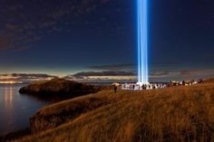 Imagine Peace Tower by Yoko Ono, on Viðey Island, Reykjavik. Powerful work of art with a much needed message.
