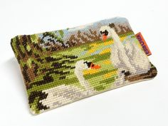 Vintage+Needlepoint+zippered+pouch+van+Ella+since+Osix+op+DaWanda.com