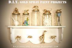 DIY Gold Spray Paint Projects  Kaleidoscope Living: Simple DIY Nursery Room Ideas