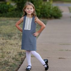The Perfect A Line Dress for Girls Reversible Dress Pattern 2 – 6 years - Tie Dye Diva Patterns Kam Snaps, Square Neck Top, Reversible Dress, Girls Dresses, Summer Dresses, People Dress, Pdf Sewing Patterns, 6 Years, Baby Dress