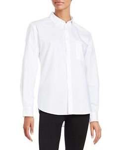 Lhp No Love Lost Button-Front Shirt Women's White Large