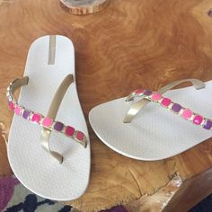 7c7bc1f53f32 Shop Women s Ipanema Cream Pink size 10 Sandals at a discounted price at  Poshmark.