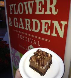 The Smokehouse Barbecue & Brew Marketplace (USA) at EPCOT's Flower and Garden Festival.  Rocky Road Brownie Mousse.