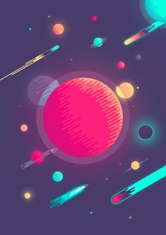 The Big Planet Art Print