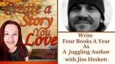 Write Four Books A Year As A Juggling Author with Jim Heskett #casylvideointerviews  #makealivingwriting  #selfpublishing  #indieauthorsofinstagram