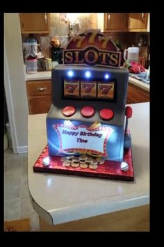 1000 Images About Vegas Slot Machine Cake On Pinterest