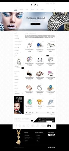 Diana eCommerce HTML Template #engagement #fashion #jewelry #necklace #responsive
