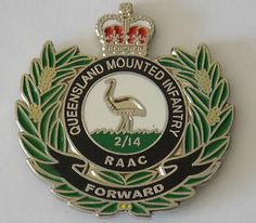 2nd 14th Queensland Mounted Infantry Raac Lapel Badge 25mm Enamel With 1pin | eBay