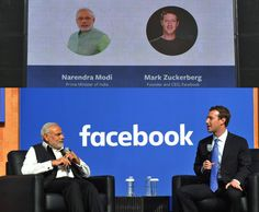 facebook office in usa. pm narendramodi and facebook ceo markzuckerberg at townhall qu0026a head california usa office in