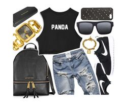 """""""Cool Side"""" by jomashop ❤ liked on Polyvore featuring NIKE, Earth, Burberry and black"""