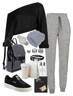 """Untitled #1912"" by elizabethwhitehead ❤ liked on Polyvore featuring Icebreaker, Puma, FOSSIL, Larsson & Jennings, Hallhuber, LULUS, McQ by Alexander McQueen and Byredo"