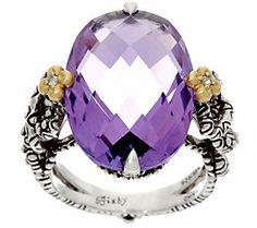 Barbara Bixby Sterling & 18K Amethyst Ring