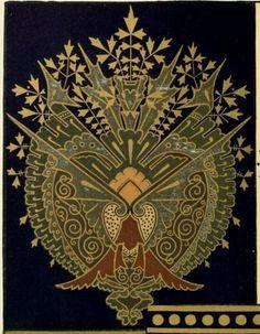 Book cover.  Principles of decorative design (1870)  Christopher Dresser