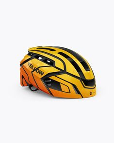 Cycling Helmet Mockup - Half Side View. Present your design on this mockup.  Simple cb946e553