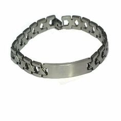 Stainless Steel 7 1/2 inch Link ID Bracelet 8mm wide DeFrescos. $6.11. Weight 23.6 grams (0.75 oz). Width: 8mm. hypoallergenic jewelry. Length: 7 1/2 Inche. Metal: 316L Stainless Steel