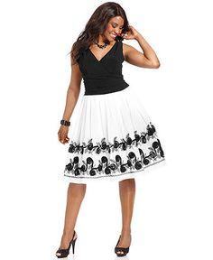SL Fashions Plus Size Dress, Sleeveless Ruched A-Line - Plus Size Dresses - Plus Sizes - Macys