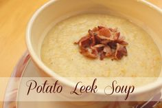 Potato Leek Soup - Family Food And Travel Potato Leek Soup, Butternut Squash Soup, I Love Food, Good Food, Yummy Food, Tasty, Homemade Soup, Soup And Sandwich, Soups And Stews