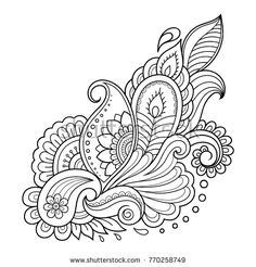 Indian style 566046246914673905 - Mehndi flower pattern for Henna drawing and tattoo. Decoration in ethnic oriental, Indian style – buy this vector on Shutterstock & find other images. Source by serriot Henna Drawings, Zentangle Drawings, Mandala Drawing, Henna Patterns, Zentangle Patterns, Embroidery Patterns, Indian Patterns, Flower Patterns, Henna Doodle