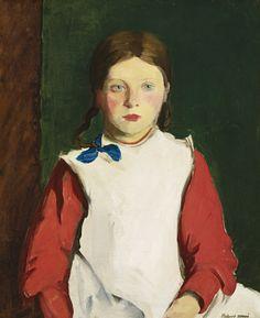 """Little Irish Girl,"" 1913 - Robert Henri"