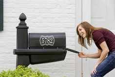 Mailbox Numbers Decal Mailbox numbers with Frame by LucyLews, $5.00