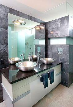 Charming Powder Room Design Denver Mid Century Modern Home Interior Decor - Decorstate