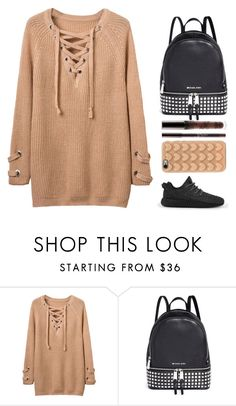 """👅"" by barijeziberi ❤ liked on Polyvore featuring Michael Kors, Marc Jacobs and adidas"