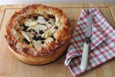 Torta croccante di mele e mirtilli