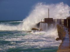 Rough Sea over Port Alfred pier African Image, Us Beaches, Places Of Interest, Niagara Falls, South Africa, Beautiful Homes, Beach House, Cape, Places To Visit