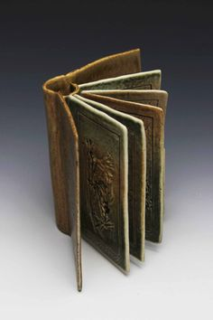Ceramic Book with movable pages by Samantha Norha