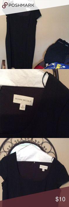 Black dress cap sleeves Black dress cap sleeves excellent condition scoop neck ronni nicole Dresses