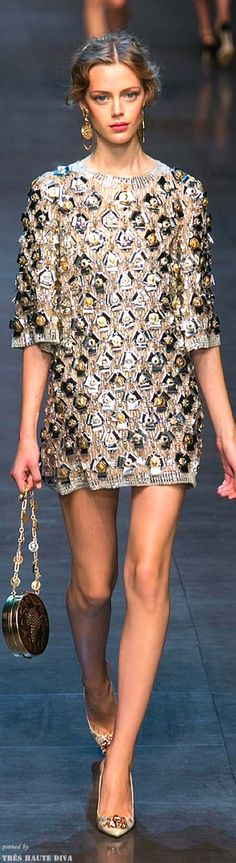 Dolce  Gabbana Spring 2014 RTW This style fits almost ANY body type!