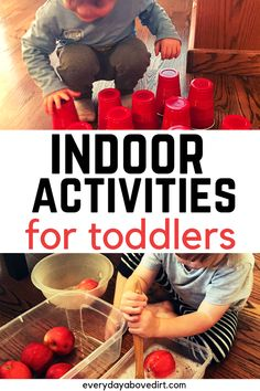 Easy indoor activities great for burning energy inside on those rainy days. activities for old Indoor Toddler Activities Indoor Activities For Toddlers, Rainy Day Activities, Toddler Learning Activities, Baby Learning, Montessori Activities, Infant Activities, Family Activities, Toddler Play, Toddler Preschool