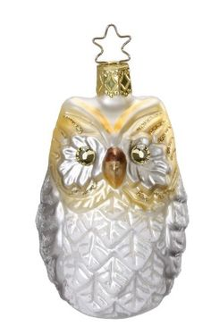 Amazon.com - Inge Glas Swarovski Starry Eyed Owl Mouth Blown Glass German Christmas Ornament
