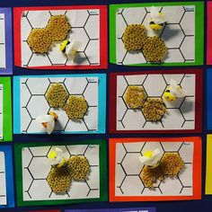 Use more empty rolls cut sliced to create the honey combs – Artofit Bee Activities, Spring Activities, Bug Crafts, Diy And Crafts, Preschool Crafts, Crafts For Kids, Classe D'art, Bee Art, Bee Theme