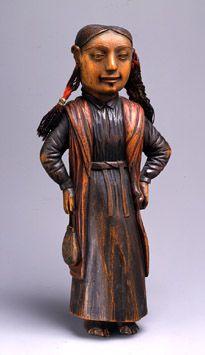 Haida Female Figure  ca 1830/Haida/Queen Charlotte Islands, British Columbia  Fenimore Art Museum