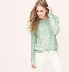 Mixed Stitch Sweater | Loft