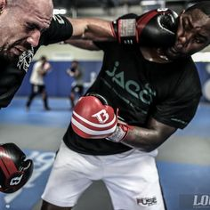 "boxing training w/ Anthony ""Rumble"" Johnson : if you love #MMA, you'll love the #UFC & #MixedMartialArts inspired fashion at CageCult: http://cagecult.com/mma"