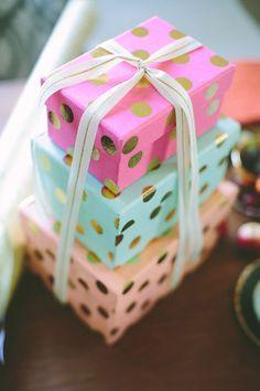 Pastel polka dot gifts