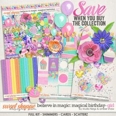 *FWP* Believe in Magic Magical Birthday - Girl Collection by Amber Shaw & Studio Flergs