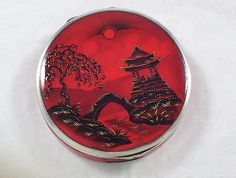Antique-Sterling-Silver-Gilt-Enamel-Chinese-Scene-Decorated-Compact-Box-1926