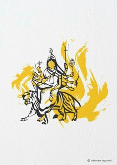 Navaratri symbolises power, prosperity, wealth and knowledge Durga Maa, Durga Goddess, Goddess Art, Shiva Shakti, Navratri Puja, Happy Navratri, Hindu Festivals, Indian Festivals, Navratri Wallpaper