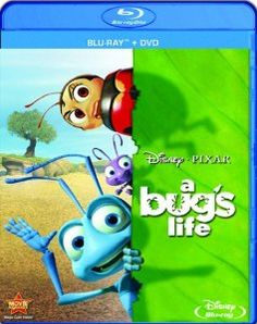 Experience the astonishing world of Flik and his tiny friends as the magic of Pixar Animation's A Bug's Life springs to life with crystal-clear picture and amazing theater-quality sound on Disney Blu-ray and DVD. Disney Movies By Year, Dvd Disney, Best Disney Animated Movies, Disney Blu Ray, Pixar Movies, Disney Love, Disney Pixar, Disney Films, Childhood Movies