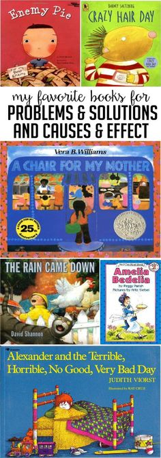 Read alouds for problem/solution and cause/effect.