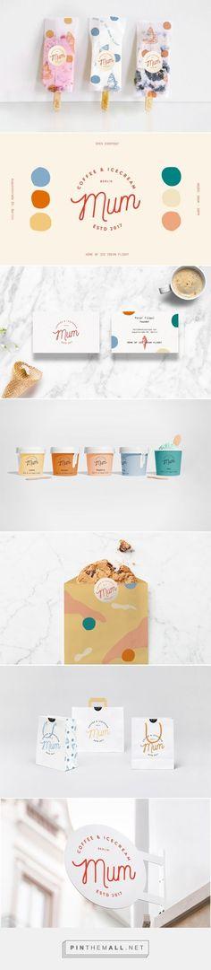 Mum Coffee & Ice Cream on Behance - erstellt am - packaging - Herrlicher Kuchen Corporate Identity Design, Brand Identity Design, Brand Design, Design Visual, Web Design, Food Design, Interaction Design, Icon Background, Restaurant Branding