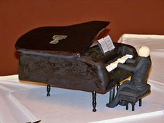 A Slice of Heaven Custom Cakes Online Cake Decorating School: How to Make a Baby Grand Piano Cake