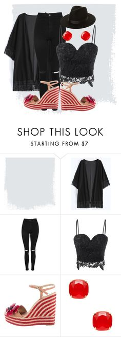 """""""September Rock 'N Roll"""" by kindella ❤ liked on Polyvore featuring Topshop, Kate Spade and Lack of Color"""